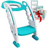 BABYSEATER Potty Training Seat with Potty Reward Chart - Step Stool Ladder Toilet Training Seat for Toddlers, Boys or…