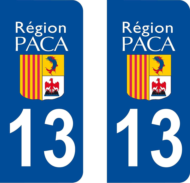 franz/ösisches Departement 13 Bouches du Rhone Safirmes Nummernschild-Aufkleber