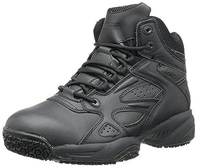 Skidbuster 5053 Men's Leather & Mesh Slip Resistant Athletic Shoe,Black ...