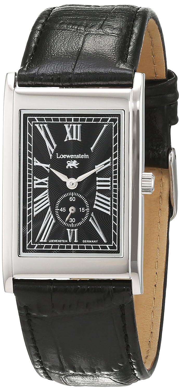 LÖwenstein Herren-Armbanduhr Analog Automatik Leder LO-T23167-194S