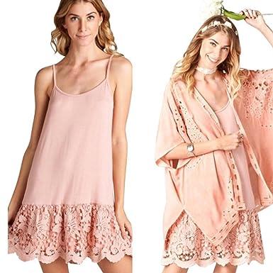 22b378a73878 Sassyclassyjewelry Oddi Lace Dress Extender Scalloped Crochet Black White  Slip Tank Top Shirt (Small,