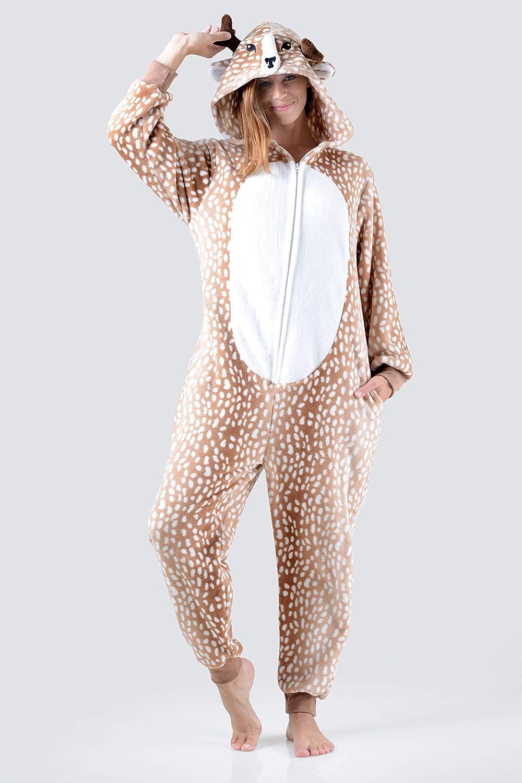 Amazon.com: Disfraz de pijama para adultos con diseño de ...