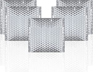 Thermal Insulated Bubble Mailers 10 x 10.5 Food Grade Padded envelopes 10 x 10 1/2. Pack of 10 Silver Cushion envelopes. Peel and Seal. Metallic foil. Mailing, Shipping, Packing, Packaging.