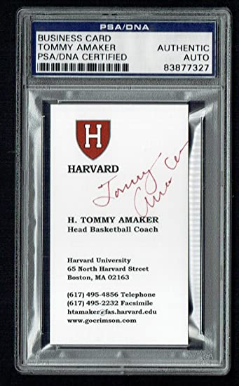 Tommy Amaker Signed Autograph Business Card Harvard Basketball Coach