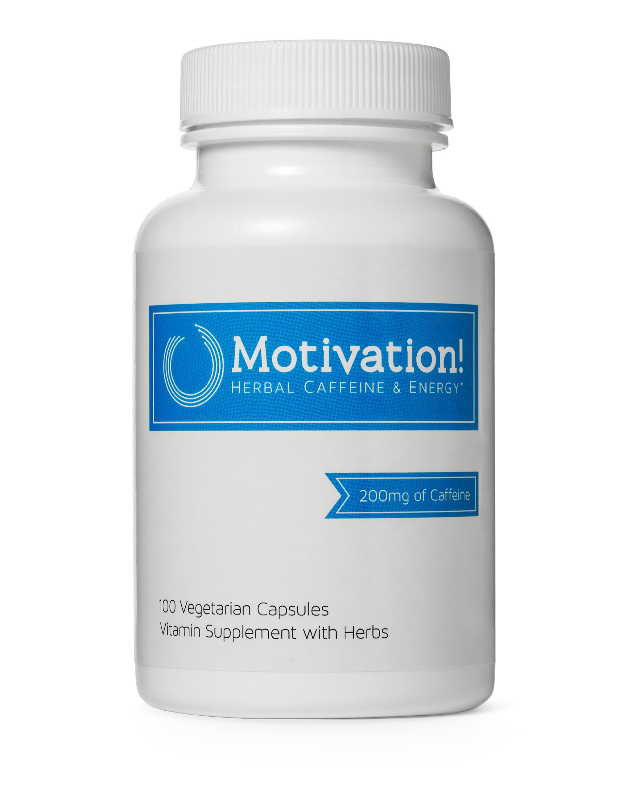 Motivation Herbal Caffeine Energy Vitamin Supplement, 100 Capsules