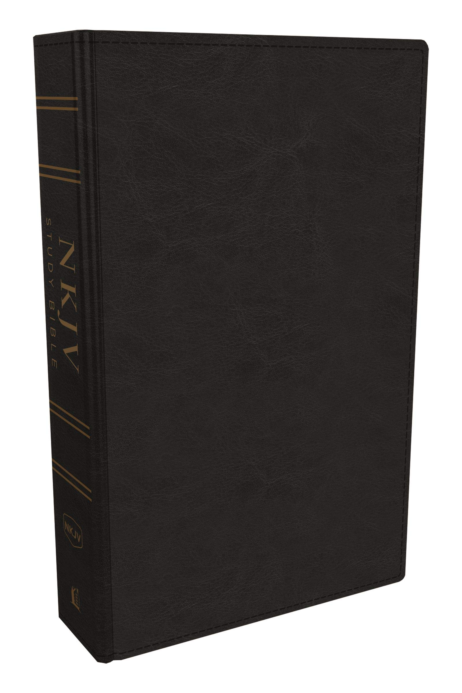 NKJV Study Bible, Leathersoft, Black, Full-Color, Comfort Print: The Complete Resource for Studying God's Word