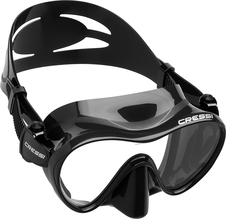 Cressi F Gafas de buceo sin marco color negro