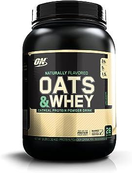 Optimum Nutrition Natural Oats&Whey Bebida de Avena y proteína Whey en Polvo de Sabor Vainilla - 1363 g