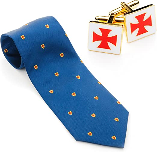 Caballeros templarios Gemelos de corbata y juego