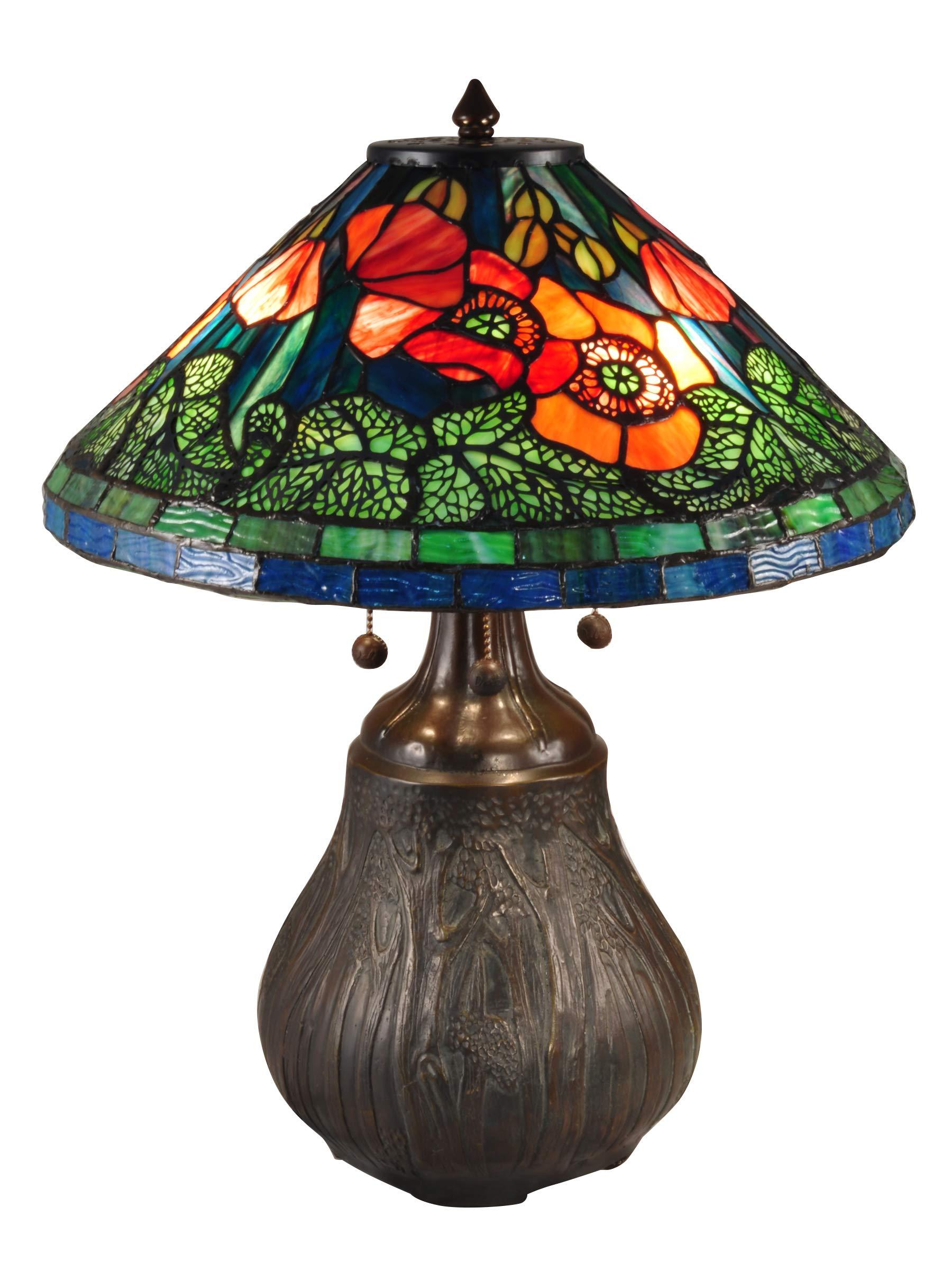Dale Tiffany TT15119 Dallas Peony Table Lamp 22'' Amber