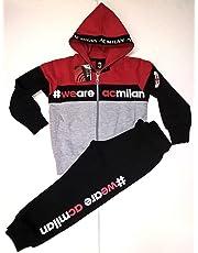 AC Milan Completo Felpa + Pantaloni Tuta Milan Bimbo Bambino Prodotto Ufficiale