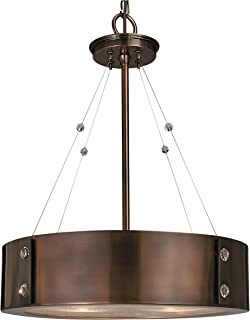 product image for Framburg 5392 RB/EB 4-Light Oracle Dinette Chandelier, Roman Bronze/Ebony