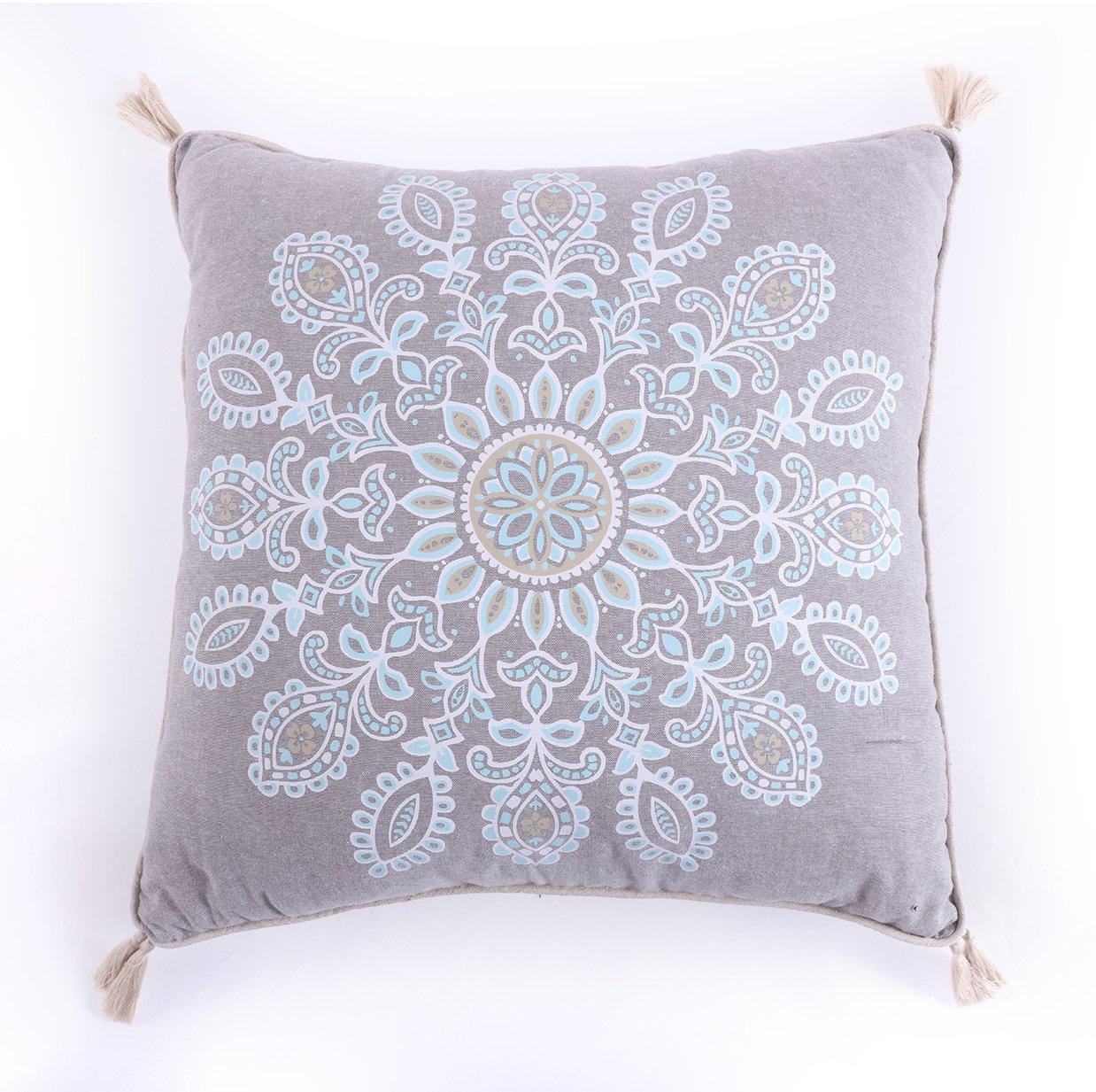 Levtex Spruce Spa Print Tassel Pillow, Brown