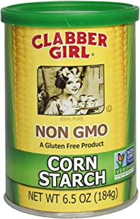 product image for Clabber Girl Corn Starch, Non GMO, Gluten Free, Vegan, Vegetarian, Thickener for sauce, soup, gravy in a Resealable Can, 6.5 oz Can