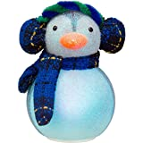 Philips Christmas USB Powered LED Glitter Penguin with Earmuffs and Scarf
