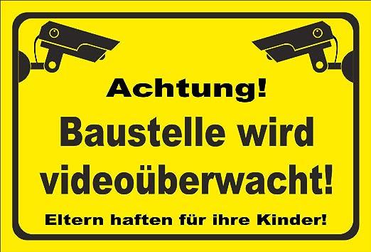 KE-Partyzubehör - Cartel para Obras de videovigilancia (20 ...