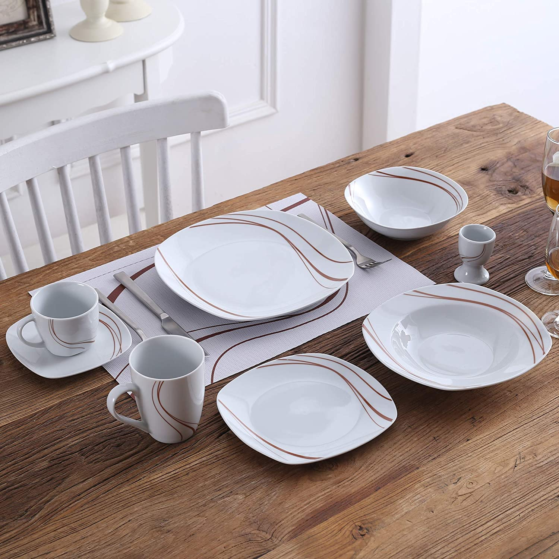 PVC Platzset Pflegeleicht VEWEET Tischset Serie Bonnie 6-teilig Set Tischmatte Tischset f/ür 6 Personen