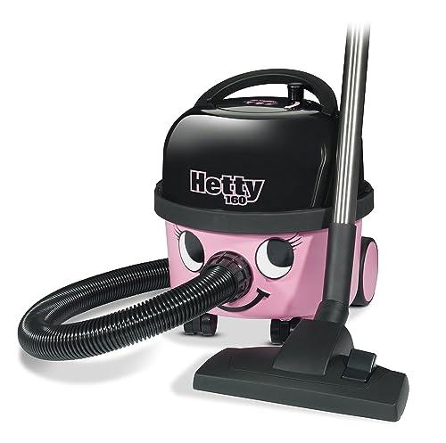 Hetty 160-11 Bagged Cylinder Vacuum, 620 W - Pink/Black