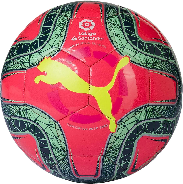 PUMA LaLiga 1 Mini Balón de Fútbol, Unisex-Youth, Pink Yellow ...