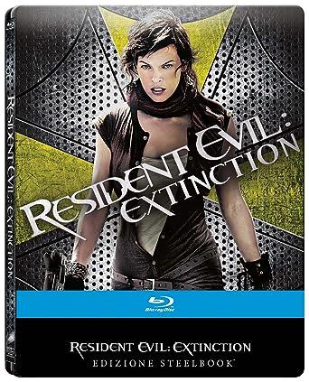 Resident Evil: Extinction Blu-Ray , Edizione Steelbook Italia Blu-ray: Amazon.es: Ashanti, Charlie Clouser, Christopher Egan, Mike Epps, Iain Glen, Milla Jovovich, Russell Mulcahy, Ashanti, Charlie Clouser: Cine y Series TV