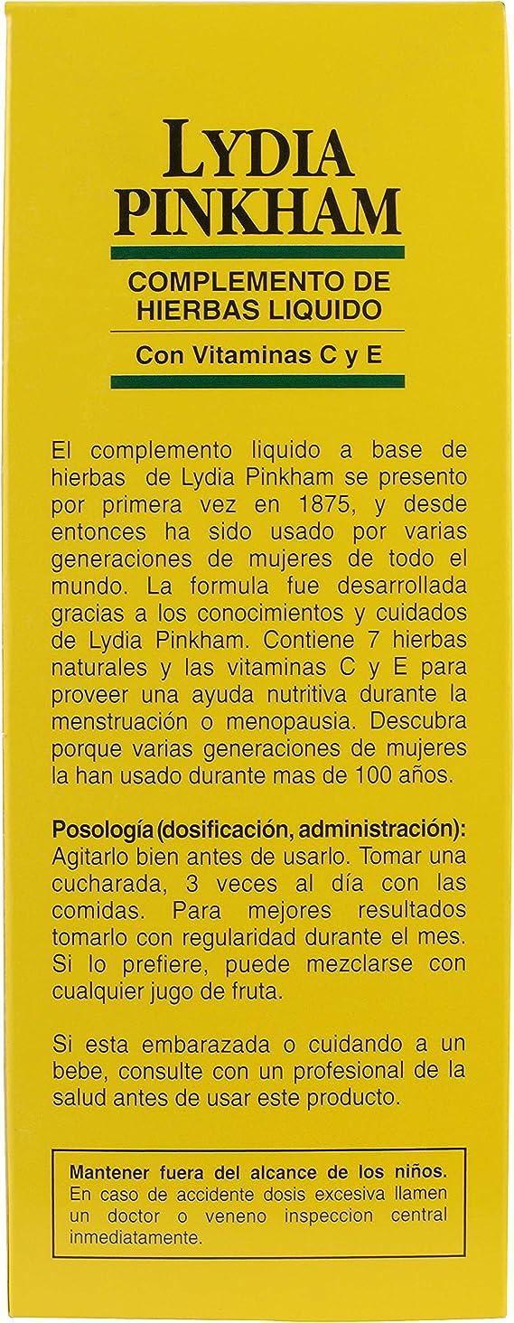 Lydia Pinkham Líquido A Sentirse Mejor Durante La Menstruación Y ...