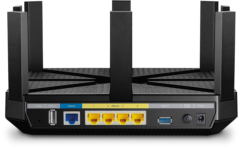tecnolog/ía de formaci/ón de haz enchufe Reino Unido Enrutador para juegos de cable inal/ámbrico MU-MIMO Gigabit de triple banda 3 coprocesadores TP-Link Archer C5400 CPU de doble n/úcleo a 1,4 GHz