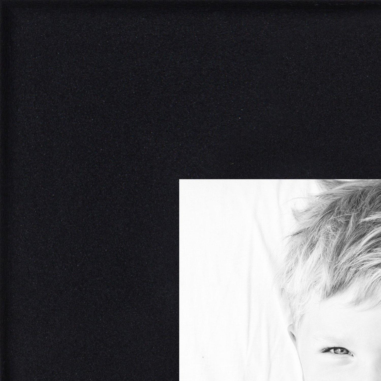 ArtToFrames 4x16 inch Satin Black Wood Picture Frame, 2WOM0066-83412-YBKW-4x16