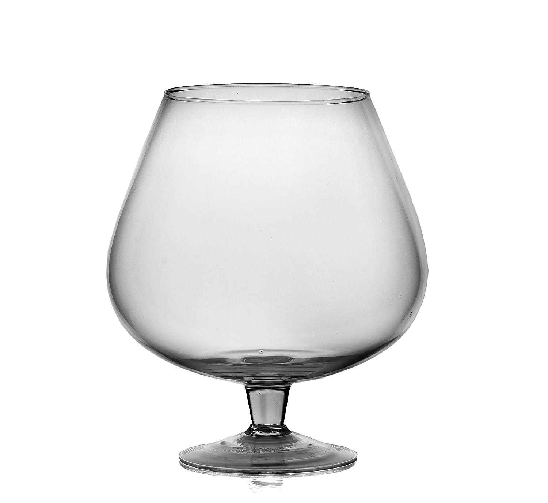 Large handmade clear glass brandy cognac glass goblet 30 cm high 4 large handmade clear glass brandy cognac glass goblet 30 cm high 4 l amazon kitchen home reviewsmspy