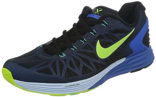 d935aef04f NIKE Lunarglide 6 Hombre Zapatillas Running - Black/Voltios/Azul, 42 EU:  Amazon.es: Zapatos y complementos