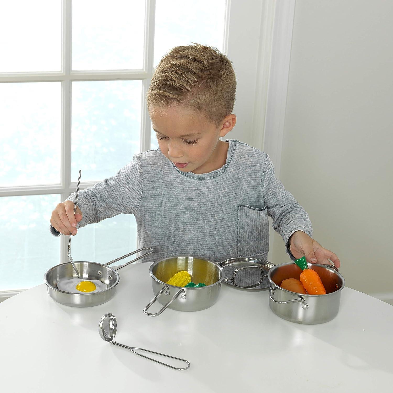 Enfants jouet en plastique cuisine ustensiles de cuisine pots casseroles accessoires set enfants uk