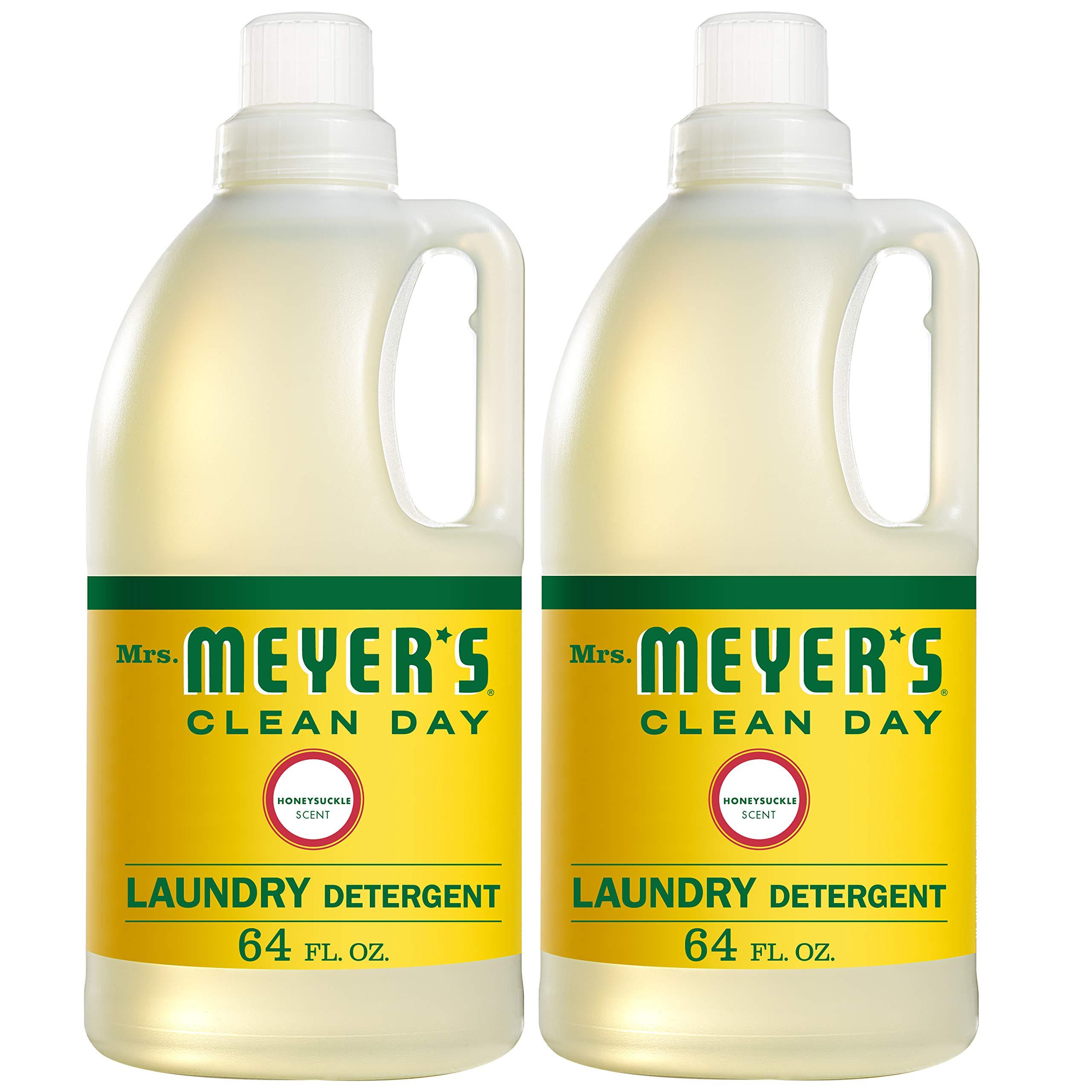 Mrs. Meyer's Laundry Detergent, Honeysuckle, 64 fl oz (2 ct) by Mrs. Meyer's Clean Day