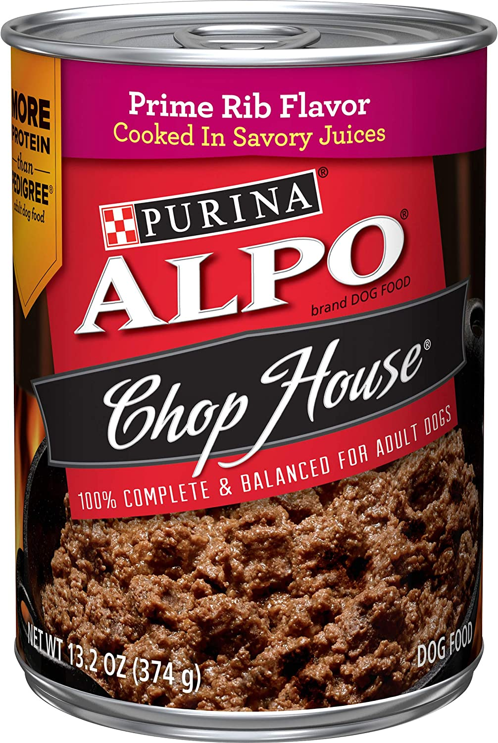 Purina ALPO Chop House in Savory Juices Adult Wet Dog Food - (12) 13.2 oz. Cans