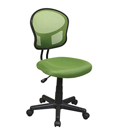 Wonderful Office Star Mesh Back Armless Task Chair With Padded Fabric Seat, Green