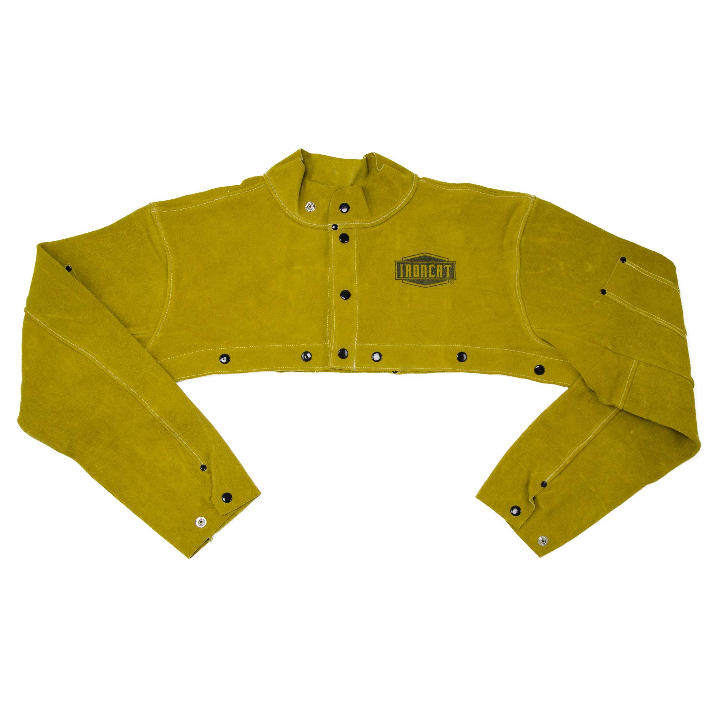 IRONCAT 7000 Heat Resistant Leather Cape Sleeve, Tan, XLarge