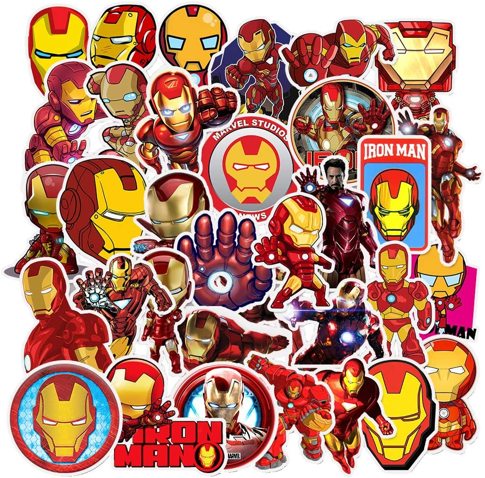 Ratgoo 35Pcs Trendy Waterproof Vinyl Funny Graffiti Stickers Pack for Iron Man Motorcycle Car Luggage Phone Guitar MacBook Water Bottle Flasks Bike Laptop Motocross Decals for Girls Kids Teens Boys.