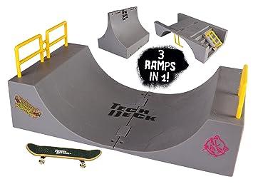 Tech Deck 20042164 - Rampa 3 en 1 con 1 monopatín de dedo ...
