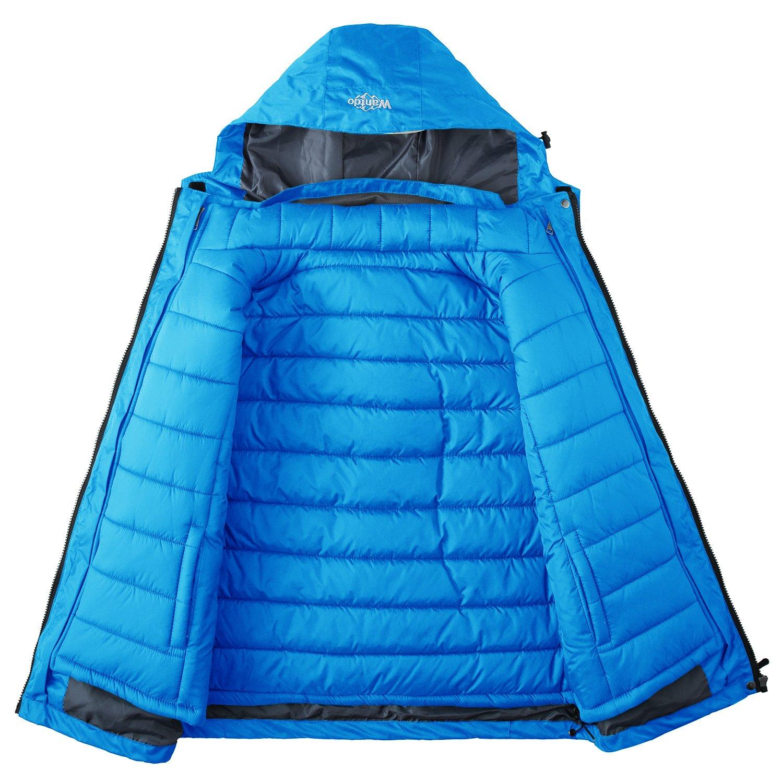 68dac981fb Amazon.com  Wantdo Women s 3-in-1 Waterproof Ski Jacket Interchange  Windproof Puffer Liner Warm Winter Coat Insulated Short Parka  Clothing