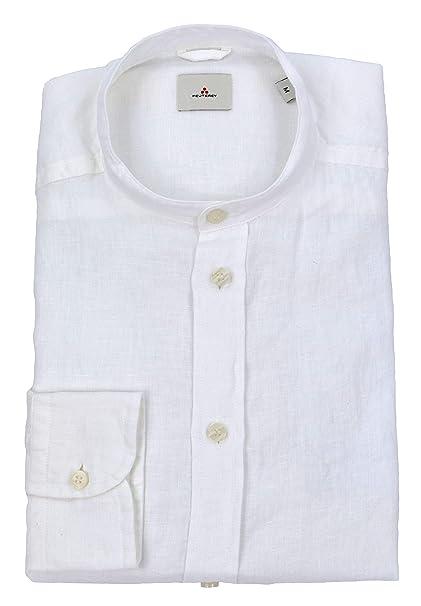 buy online eaf56 e6392 Peuterey - Uomo Hooper Lin PPT 01 BIA Camicia Lino Bianco ...