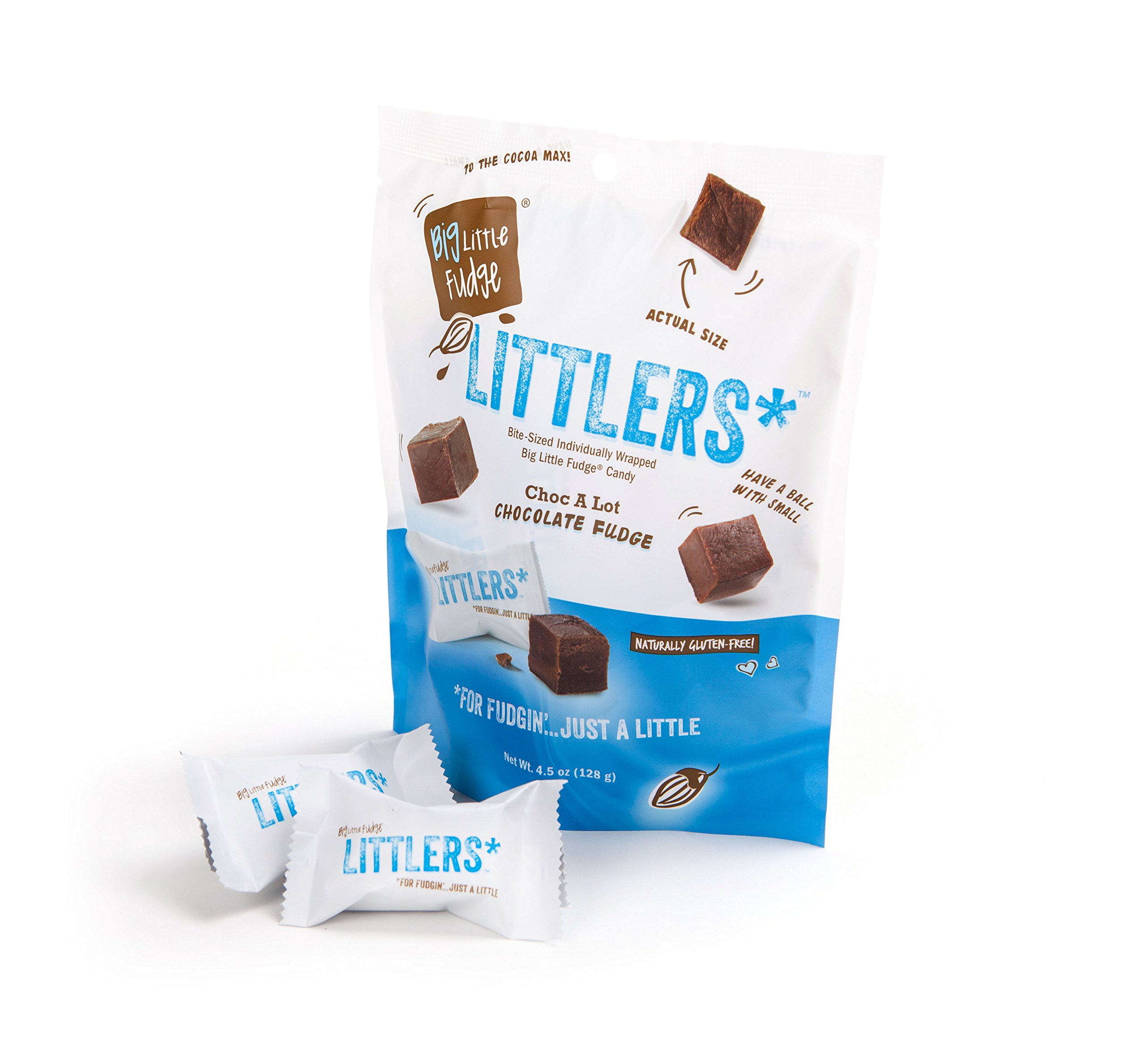 Littlers Miniature Wrapped Fudge Bites 4.5 oz Stand Up Bag (4 Pack)