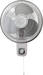Lasko M12900 Oscillating 12 inch Wall Mount Fan for Indoor Use, Light Grey