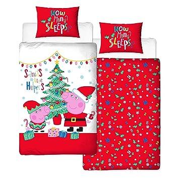 Christmas Bedding Peppa Pig Bettwäsche Set Für Einzelbett
