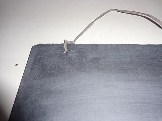RUSTIC SLATE Chalk CHALKBOARD ANTIQUE DOUBLE SIDED 8 1//4 X 6 1//4 STRAP HANG ART