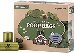 Pogi's Poop Bags - Large, Earth-Friendly, Leak-Proof Dog Waste Bags