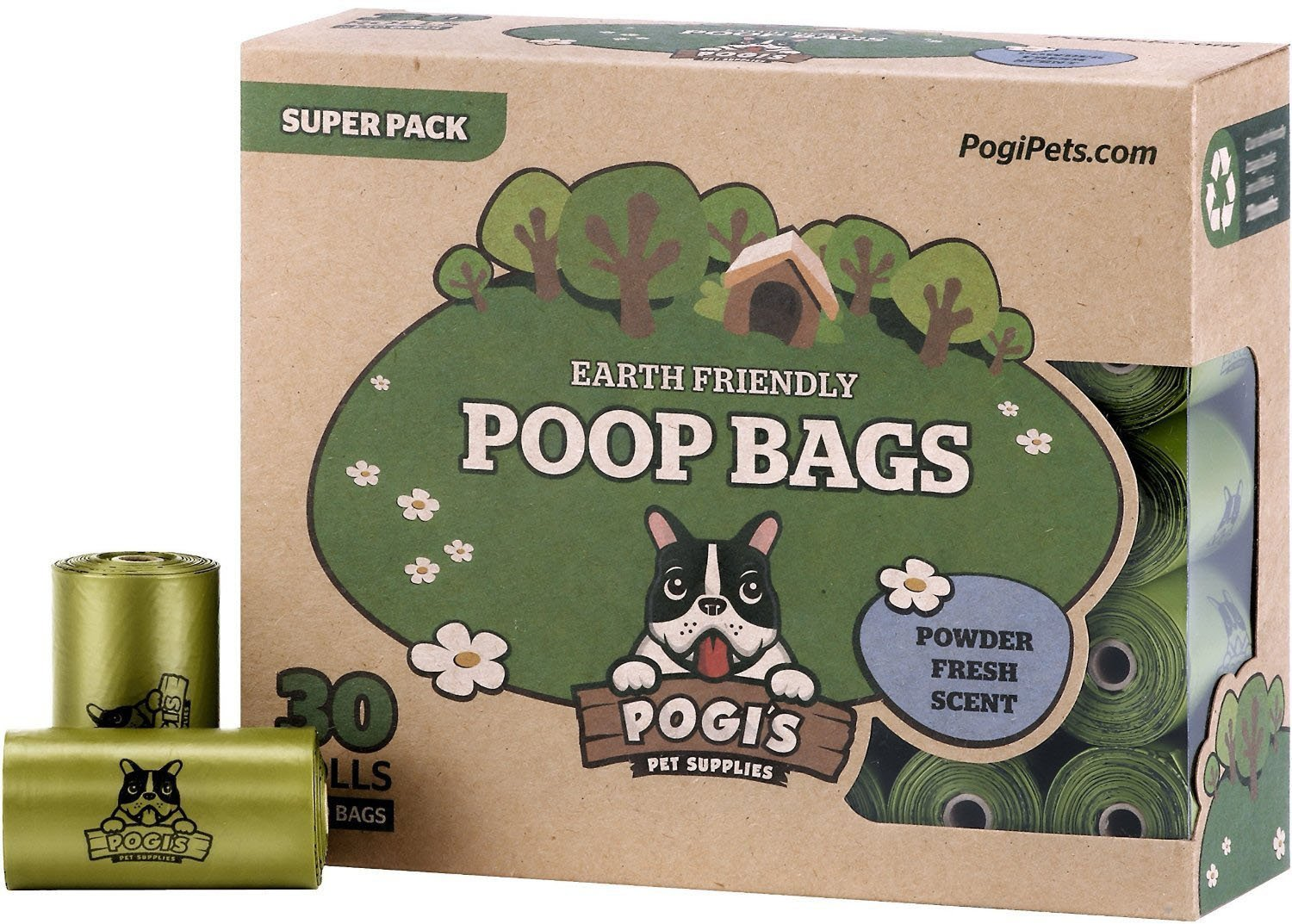 Pogis Poop Bags - Large, Earth-Friendly, Leak-Proof Dog Waste Bags