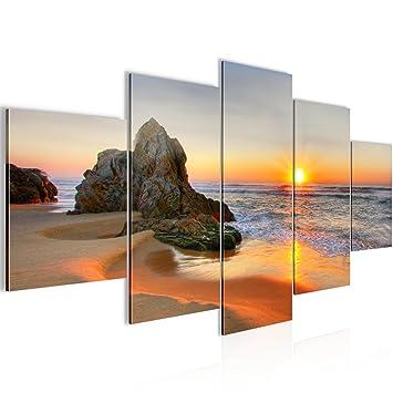 Bilder Sonnenaufgang Strand Wandbild 200 x 100 cm Vlies - Leinwand ...