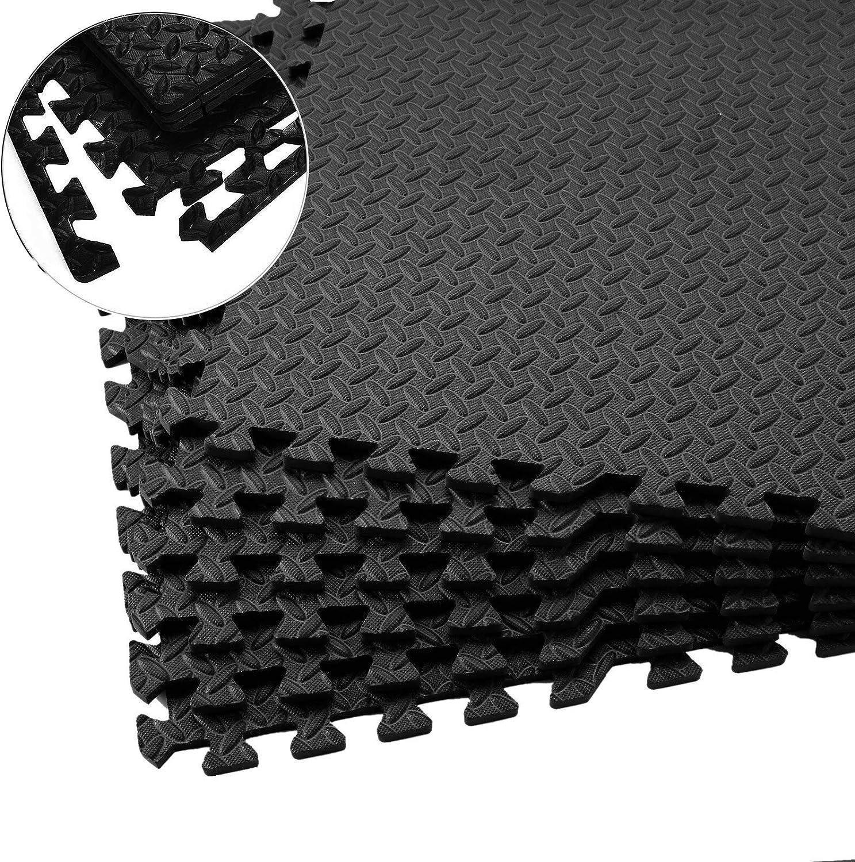 Fitgenics - Juego de 20 esterillas de protección para el suelo, para fitness, entrenamiento, impermeables, antideslizantes, para aparatos de fitness y piscina
