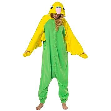 Katara - Disfraz Pijama Una Pieza Adultos Color Loro Verde Talla 145-155cm (S): Amazon.es: Juguetes y juegos