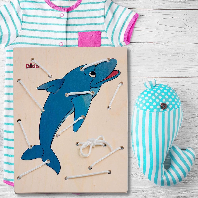 Dida Allacciatura Delfino Il Gioco dei Lacci per sviluppare la manualità dei Bambini attività Montessori