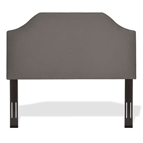 Bordeaux Upholstered Adjustable Headboard Panel With Solid Wood Frame And  Sweeping Curve Design, Dolphin Finish