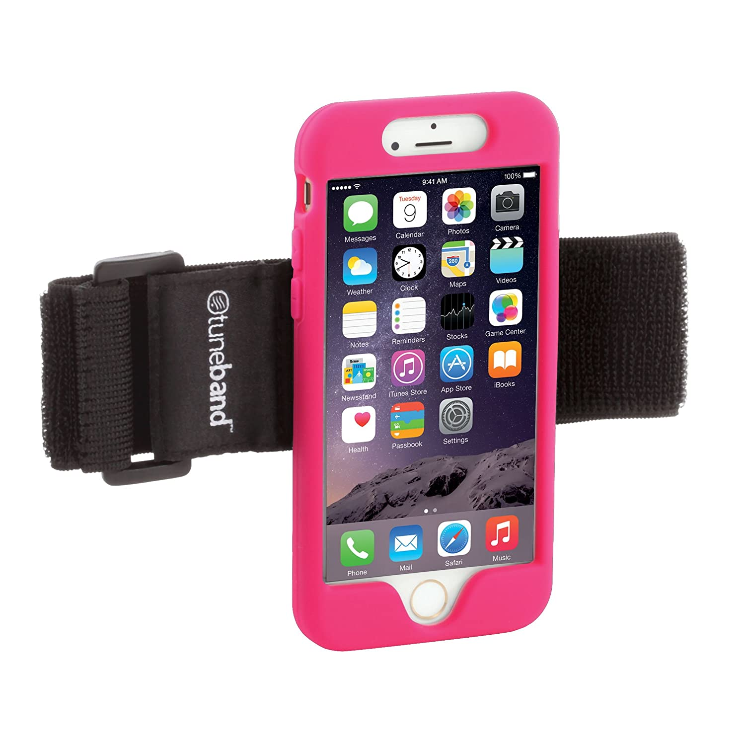 TuneBand for iPhone 6 and iPhone 6S, Premium Sports Armband with Two Straps and Two Screen Protectors, BLACK Grantwood Technology 813911012778